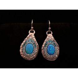 Beautiful Handmade Earrings (Blue)