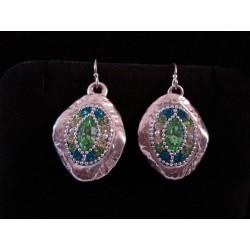 Beautiful handmade Oval earrings / Paisley (A drop-shape) Earrings