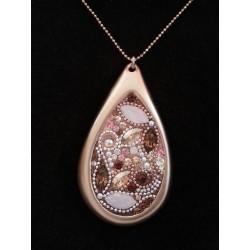 Beautiful handmade- Paisley pendant Necklace