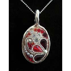 Beautiful handmade Red & Silver set