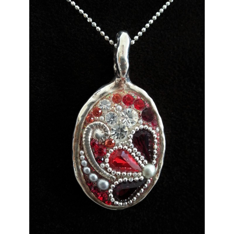 Beautiful Handmade Red Amp Silver Set Silver Point Judaica