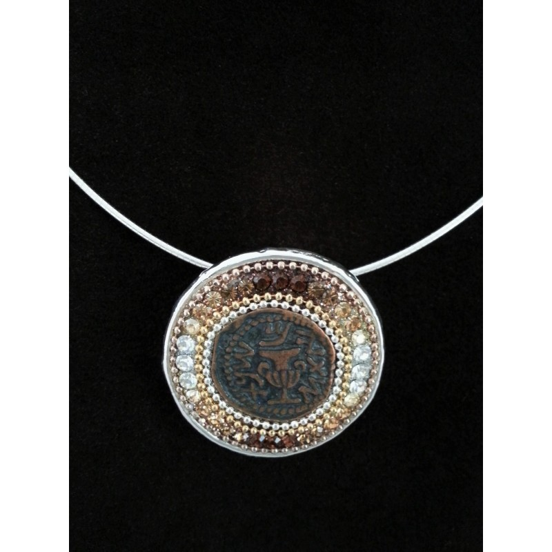 Beautiful handmade ancient coin design pendants - Silver Point ...