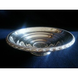 Fancy silver bowl decorated with delicate handmade engraving