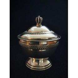 Beautiful Pure Silver Honey Dish- Yemenite design