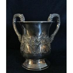 """Fancy Heavy silver Hand washing cup - """"Gefen"""" design"""
