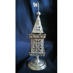 "Beautiful Handmade Pure Silver ""Besamim"" holder (spice box)"