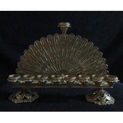 A unique Silver Handmade Filigree Design Hanukiah