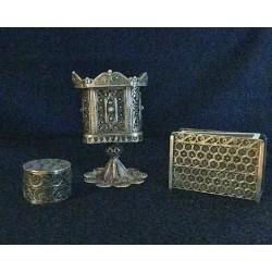 Beautiful Hand made Pure Silver Filigree Shabbat set