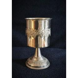 Elegant Silver Neshama Candle holder