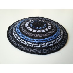 Black Carpet design- Knitted Kippa