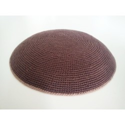 Brown Classic Knitted Kippah