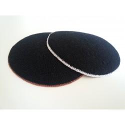 Black Classic Knitted Kippah