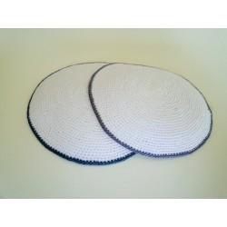 White Classic Knitted Kippah