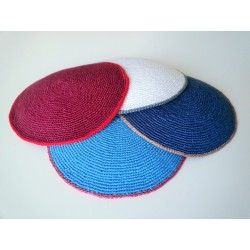 Plain Knitted Hand made Kippah