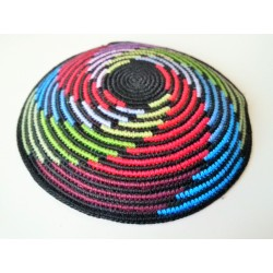 Special colorful stripes design Knitted Kippah