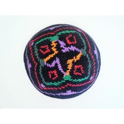 Special colorful Flower design Knitted Kippah