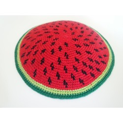 Watermelon design Knitted Kippah