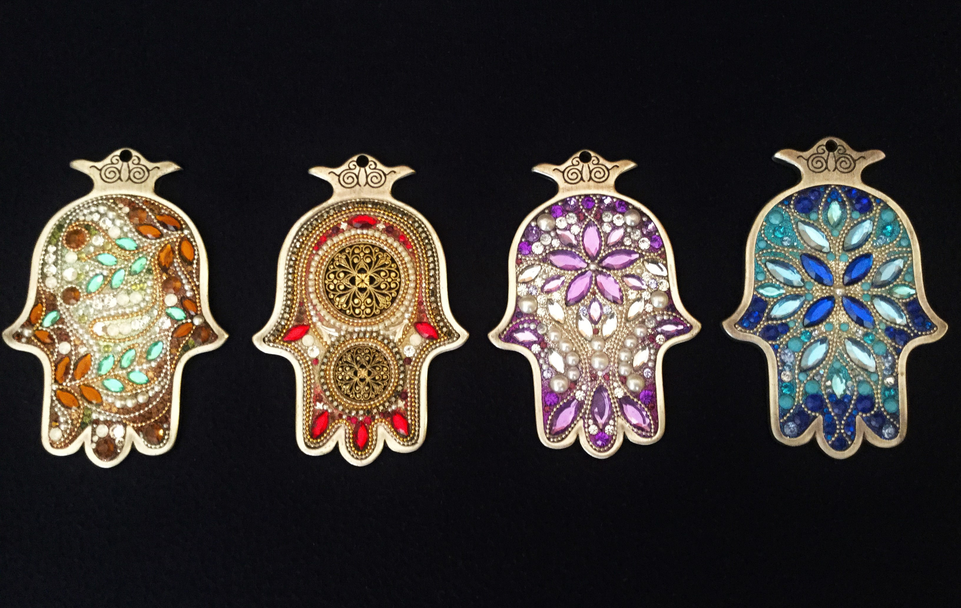 Wall hangings silver point judaica esther weiss beautiful handmade hamsa wall pendant aloadofball Image collections