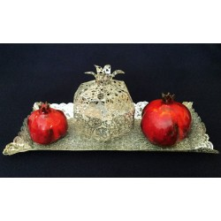 Beautiful & Unique Metalace / Ceramic Dedorative Pomegranates