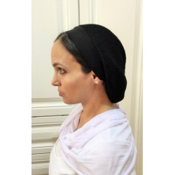 Black Velvet Traditional classic Snood with ribbon