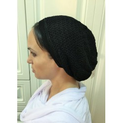 Beautiful Black knitted Traditional Snood