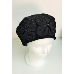 Black Modern Knitted Beret Hat