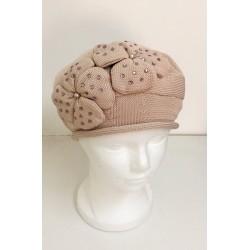 Beige Modern Knitted Beret Hat