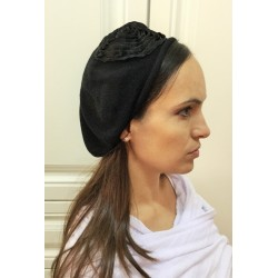 Fancy Black Modern Knitted Beret Hat