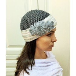 Grey Modern design Knitted Hat