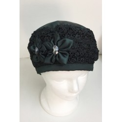 Unique Fancy Satin and Lace Barrette Hat