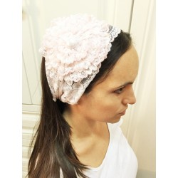 White lace Hairband – Fancy Flower design