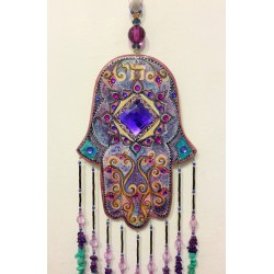 Handmade HAMSA wall pendant- Indian design