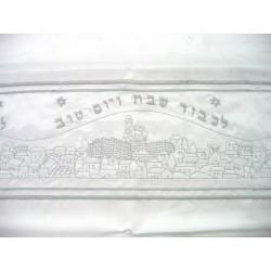 Tablecloth for Shabat Jerusalem design (Silver)