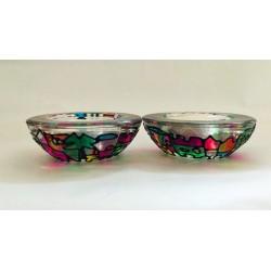 Beautiful Handmade Glass Candlesticks - Jerusalem design