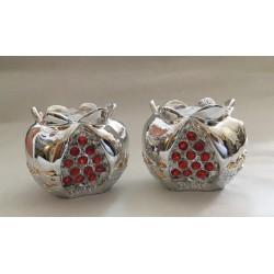Beautiful silver plated Candlesticks - Pomegranate design