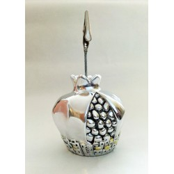 Beautiful silver plated Memo holder - Pomegranate design