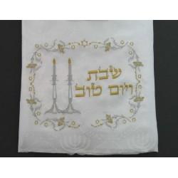 Tablecloth for Shabat Candlesticks design