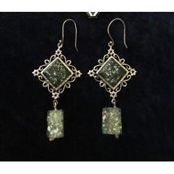 Handmade Unique Roman Glass Earrings