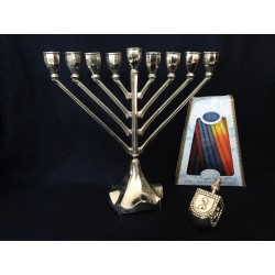 A beautiful Nickel Hanukka gift set