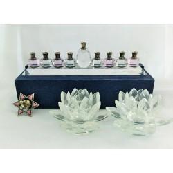 Modern and practical Glass Hanukka gift set