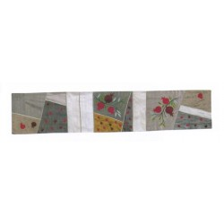 Raw Silk Runner Pomegranate design