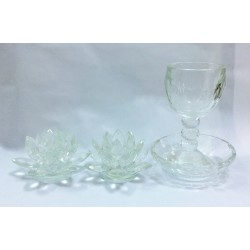 Modern and practical Glass Shabbat gift set