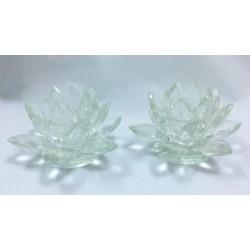 Decorative glass Candlesticks - Flower design