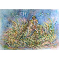 "Handmade ""Ruth"" Micrography - Blue"