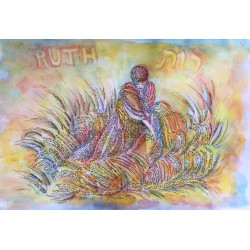 "Handmade ""Ruth"" Micrography - Yellow shades"