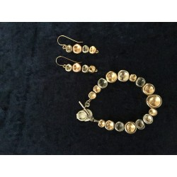 Modern Israeli style bracelet and Earrings