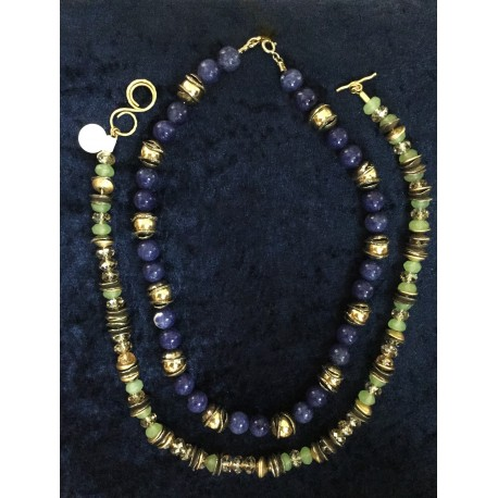row semi precious with charms nadia dajani stone necklace