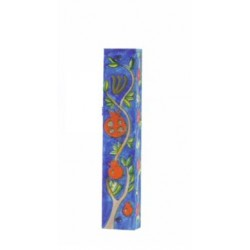 Wooden Mezuzah Pomegranate design