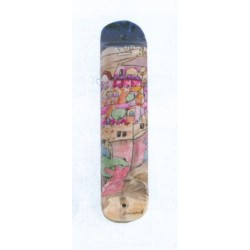 Wooden Mezuzah  Jerusalem design (4)