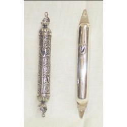 Small size silver mezuzot
